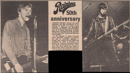 Press clipping for the 50th Anniversary shows
