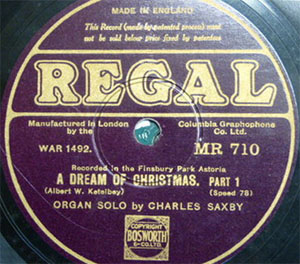 78rpm record - recorded at The Astoria, Finsbury Park