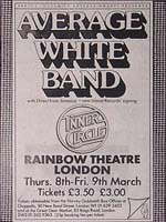 Average White Band ticket