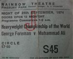 Ali V Foreman flight ticket