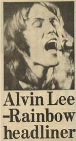Alvin Lee press cutting