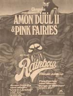 Amon Duul & Pink Faries Advert