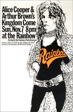 Alice Cooper, Arthur Brown's Kingdom Come Poster