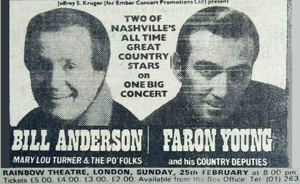 Bill Anderson, Faron Young advert