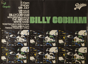 Poster for Billy Cobham concert