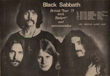Black Sabbath Press Advert