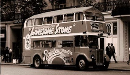 Branded Bus for The Lonesome Stone Show
