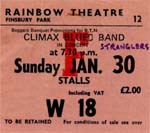 Climax Blues Band/Stranglers Ticket