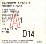 Deep Purple Ticket