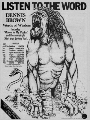 Dennis Brown tour advert