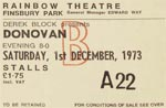Donovan ticket