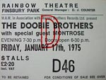 Doobie Bros/Montrose  ticket 1975