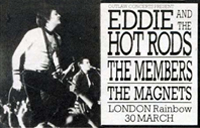 Eddie & The Hot Rods advert