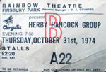 Herbie Hancock ticket