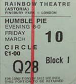 Humble Pie Ticket