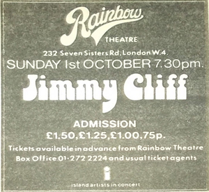 Jimmy Cliff advert
