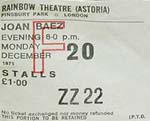 Joan Baez ticket