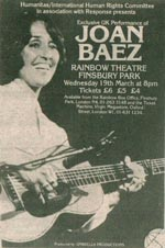Joan Baez press advert