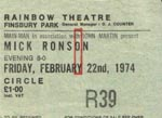 Mick Ronson ticket