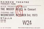 Moody Blues ticket