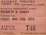 Nazareth Ticket