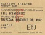 Osmonds Ticket