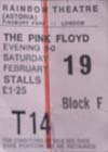 Pink Floyd Ticket