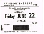 Peter Tosh ticket