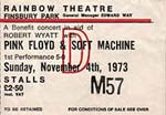 Pink Floyd/Soft Machine ticket
