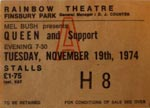 Queen ticket
