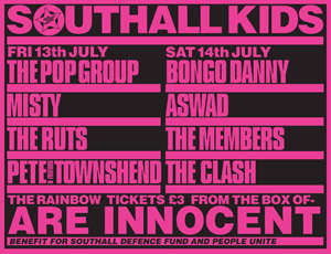 """Southall Kids Are Innocent"" poster"