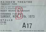 Roxy Music ticket