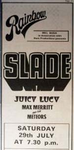 Slade press advert