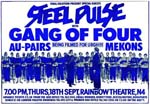 Steel Pulse - Gang of Fours Poster