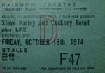 Stevge Harley & Cockney Rebel ticket
