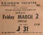 Steve Hillage ticket
