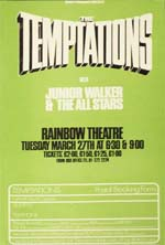 Flyer for Temptations concert