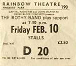 Bothy Band ticket