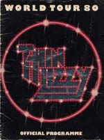 Thin Lizzy Tour Programme