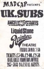 UK Subs Poster