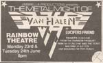 Van Halen Press advert