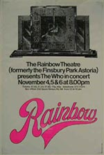 Who poster for Rainbow Opening Concert version 1