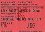 Beck Bogert Appice Ticket