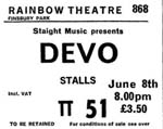 Devo ticket