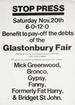 Glastonbury Fair Benefit Flyer