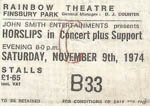 Horslips ticket