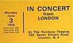 """In Concert"" Ticket"
