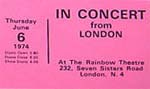 """In Concert"" Humble Pie Ticket"