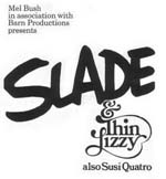Slade, Thin Lizzy, Suzi Quatro Press Advert