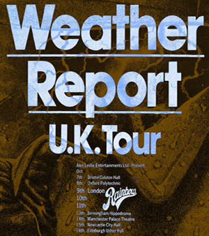Weather Report flyer
